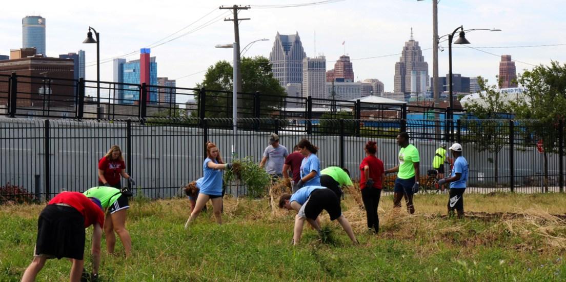 Students, community enhance Fitzgerald neighborhood, Detroit-area gardens