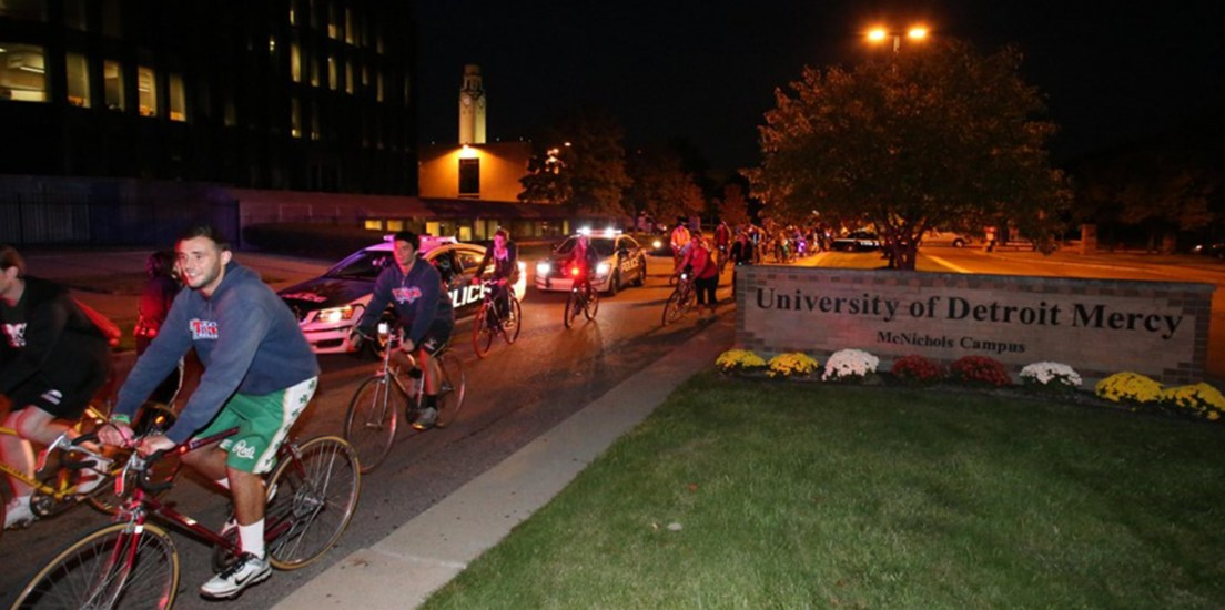 Register and ride: Detroit Mercy Midnight Bike Ride