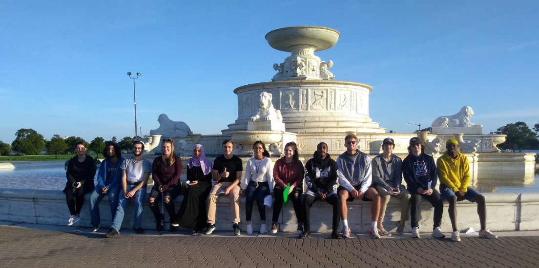 """Students explore """"geography and borders"""" on Belle Isle"""