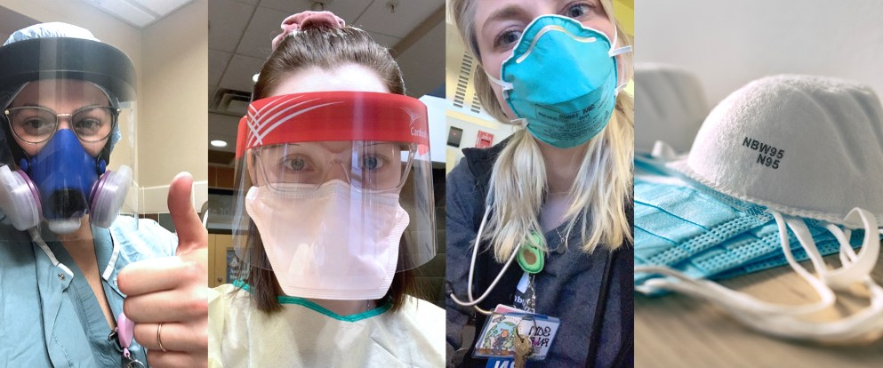 Heashots of first-responders from Detroit Mercy during COVID-19 pandemic.
