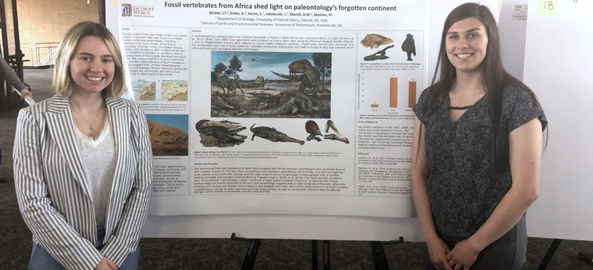 Detroit Mercy student co-authors groundbreaking Spinosaurus paper