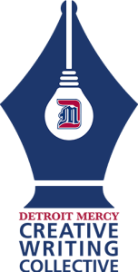 the logo for the Detroit Mercy Creative Writing Collective
