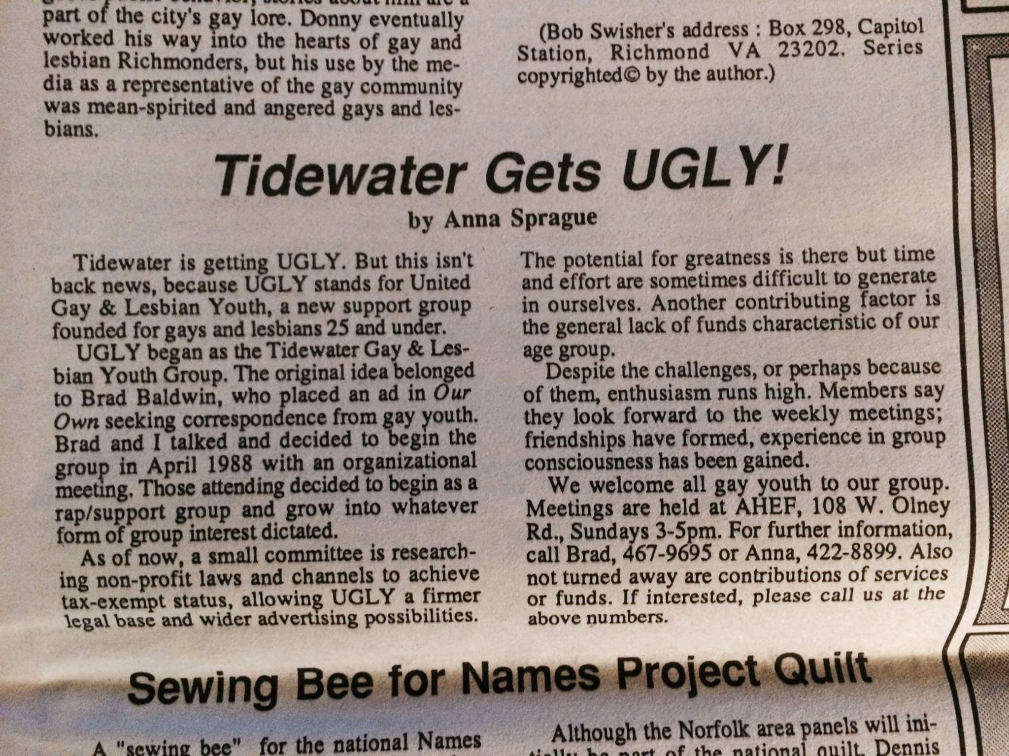 Tidewater gay addresses