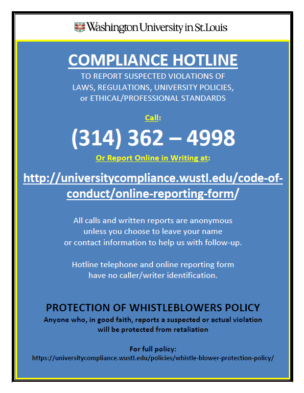 compliance hotline for reporting
