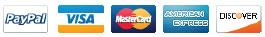 PayPal Visa MasterCard American Express AmEx Discover