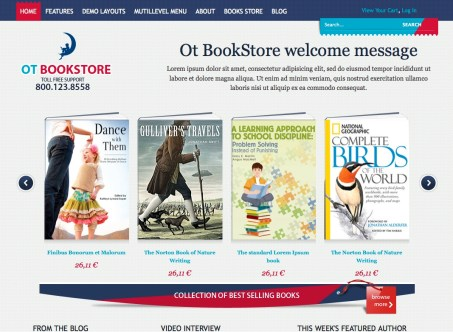 otbookstore template livraria online