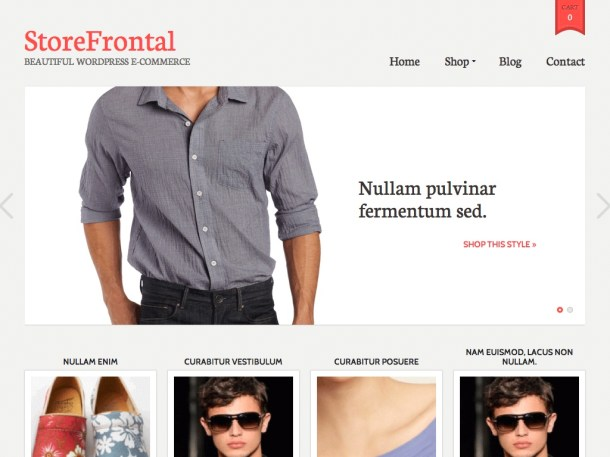 StoreFrontal -Beautiful WordPress e-commerce