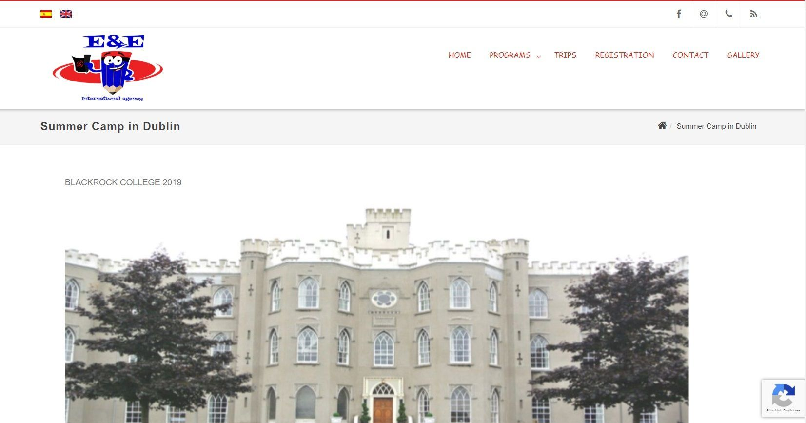Website dublin camp for languages agency