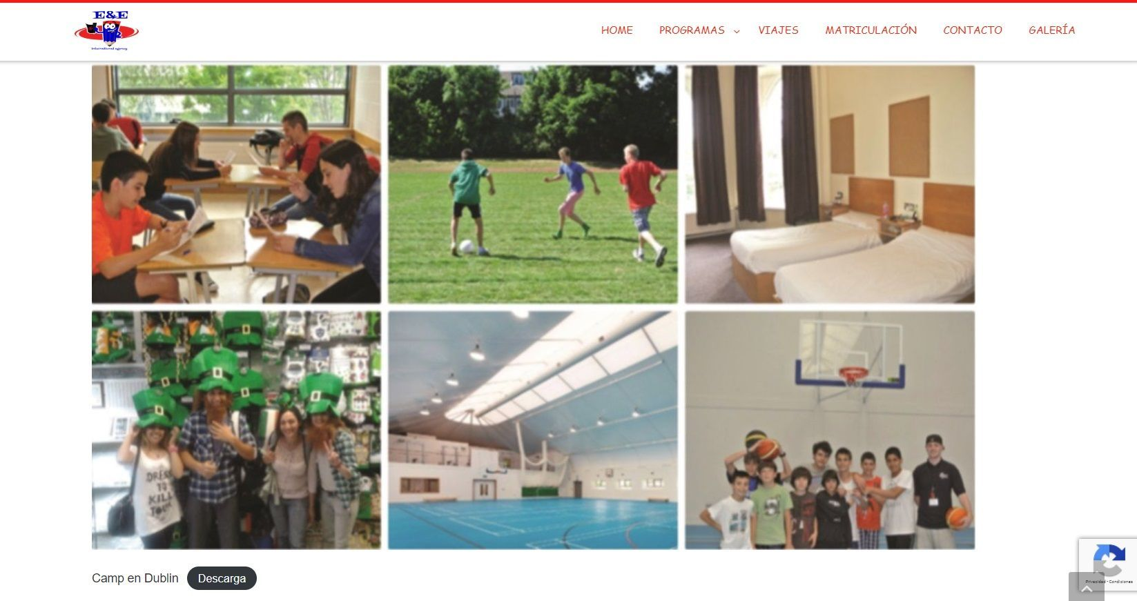 website in spanish for languages agency