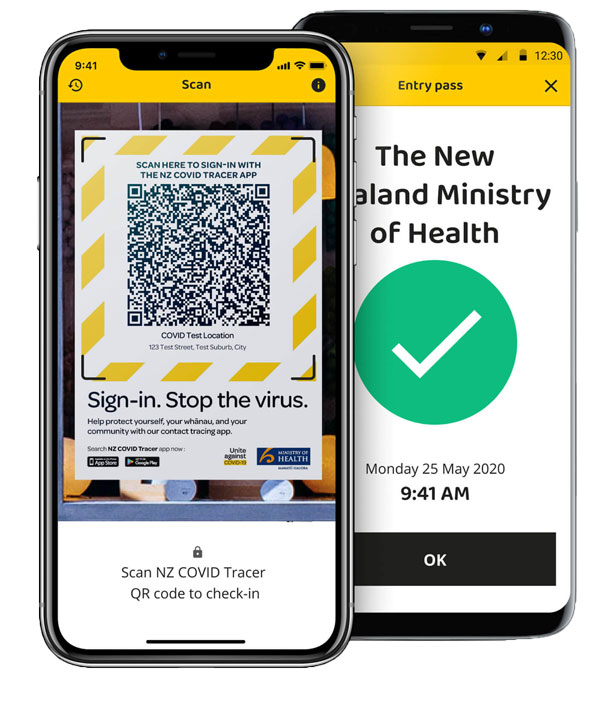 Government COVID-19 QR Code Tracing App