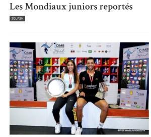 On en Parle: Le Dernier Voyage d'Enzo… Monde Juniors reportés….