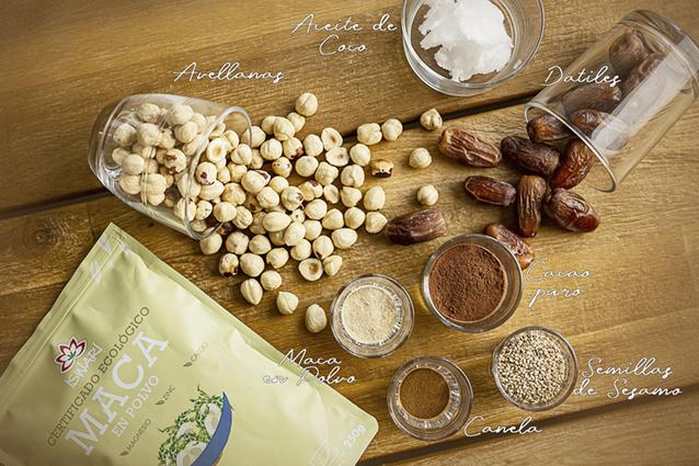 Ingredientes Bolitas Energeticas