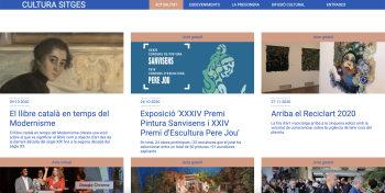 La nueva web Cultura Sitges, punto de encuentro de la actividad pública, privada y asociativa
