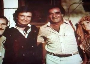 o Rei Roberto Carlos  visita  as gravações do sitio em  1979.
