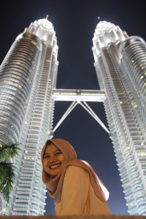 In front of Petronas tower