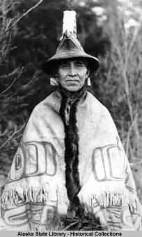 William Wells Kaads'aati, of the Luknax.adi clan. Photo Alaska State Library, Historical Collections.