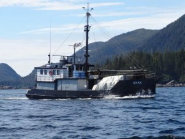 Eyak underway to southern Baranof Island, one of 75-80 such trips per year (photo courtesy of Dave Castle)