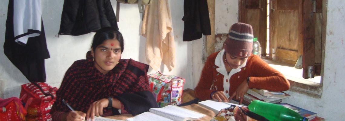 nepal girls studying