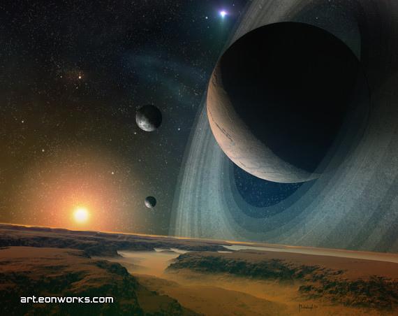 planet scape - space art
