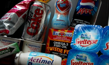 Common artificially-sweetened foods. Photograph by Graham Turner, The Guardian.