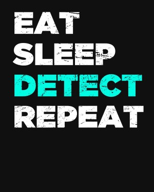 Eat Sleep Detect Repeat- Slim Fit T-Shirt- XL Size