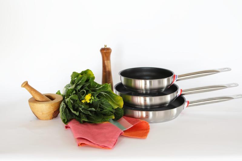 Pro 1X set of three nonstick fry pans
