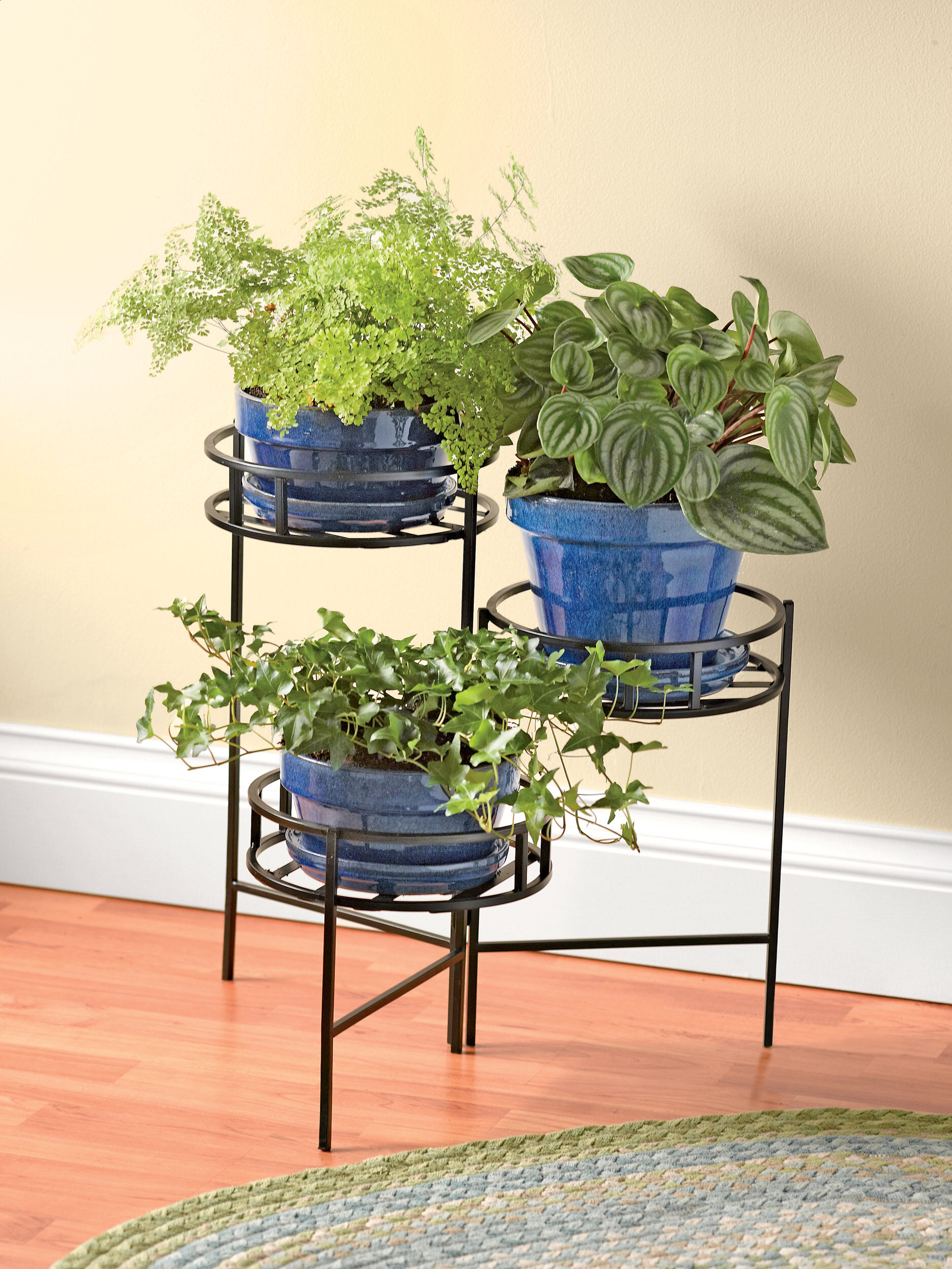 Metal Plant Stand: Nesting Triple Pot Plant Stand ... on House Plant Stand Ideas  id=51674