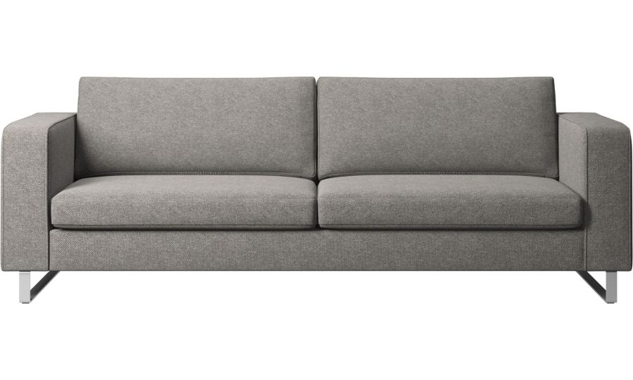 Modern 3 seater sofas   Quality from BoConcept Designs by nendo   Indivi 2 sofa   Gray   Fabric