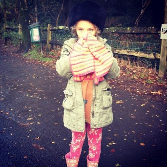 Eliana in the cold