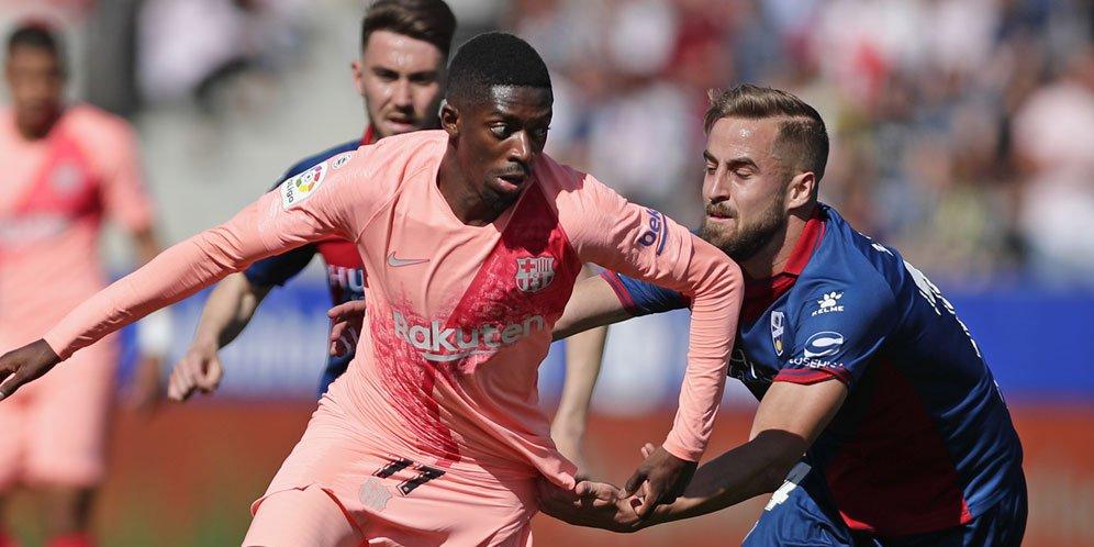 Barcelona Di Tahan Sama Mata Dengan Huesca