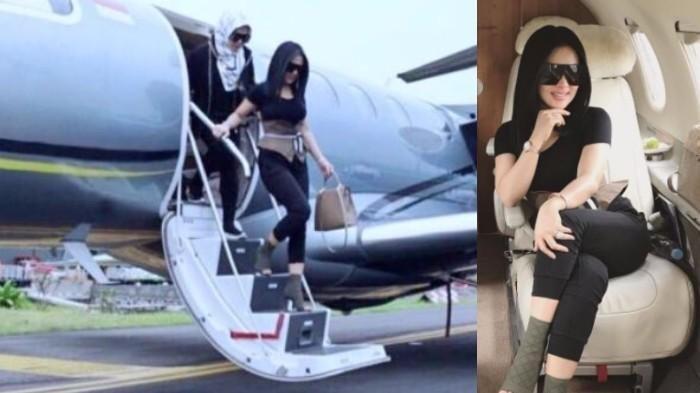 Apa Memang Benar Syahrini Punya Private Jet?