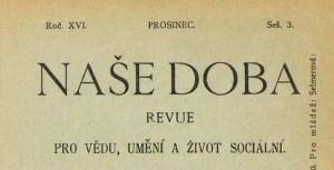 Časopis Naše doba 1908