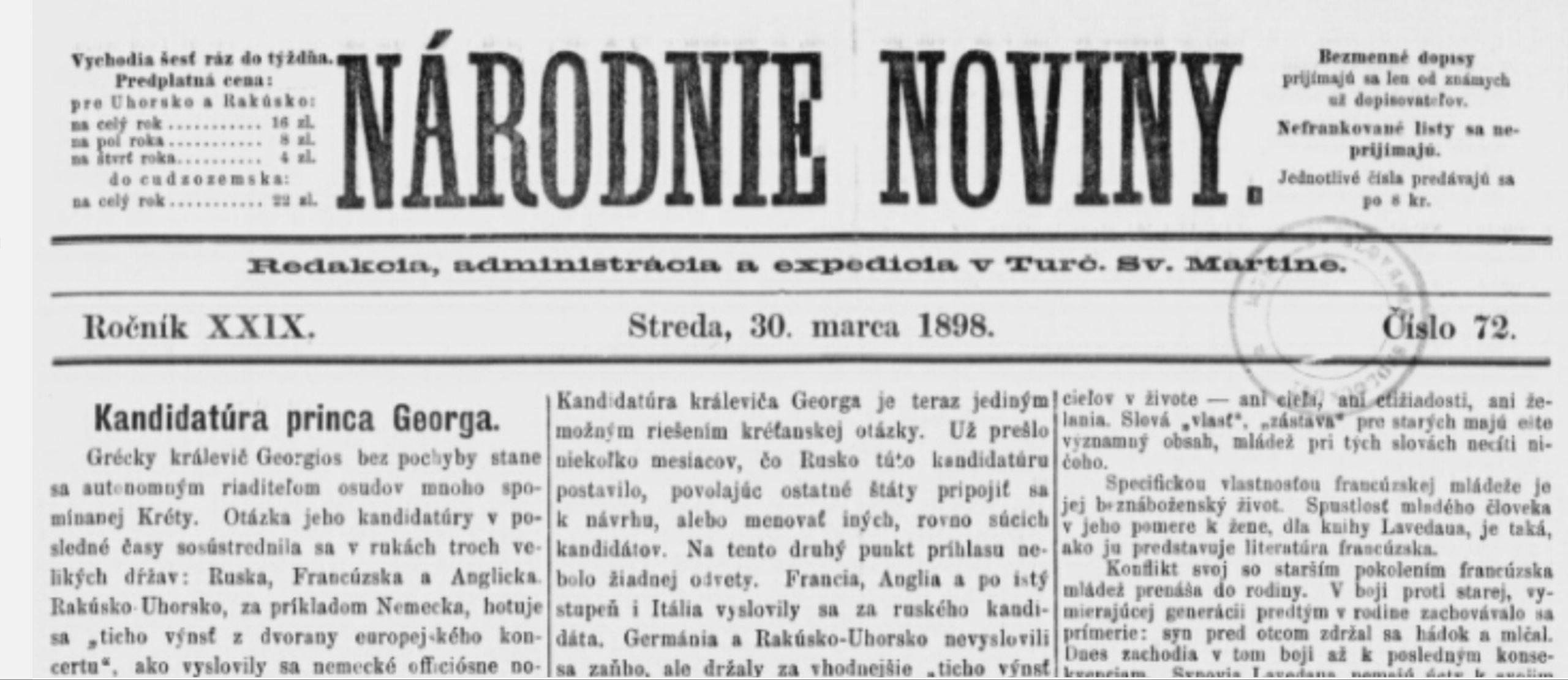 Žádost uherských baptistů o uznání státem 1898