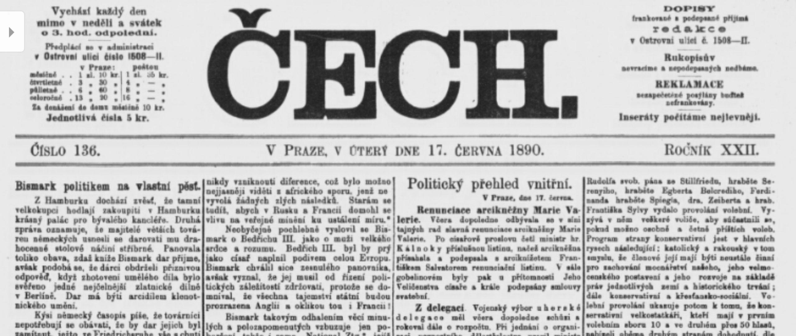 Protivenství kvůli misii v Hleďsebi 1890