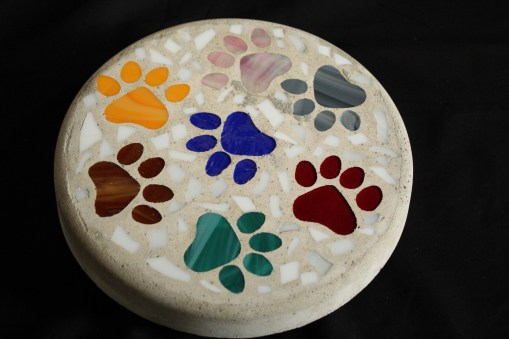 Donna Lavictoire donated incredible mosaic stepping stones and more!