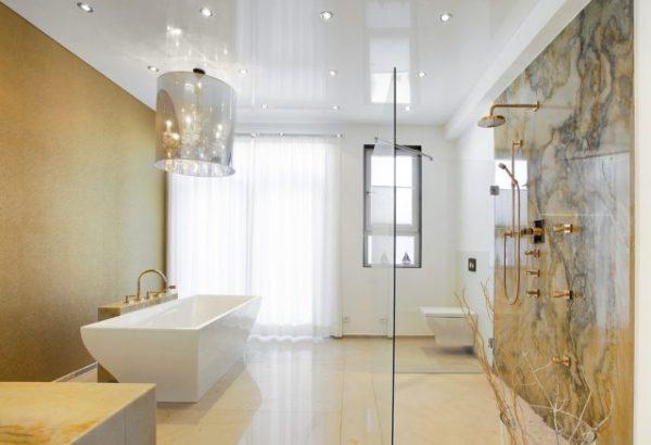 Потолки натяжные в ванную: Можно ли натяжной потолок в ...