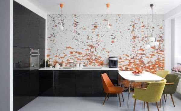 Фартук для кухни из плитки мозаика фото – Кухонный фартук ...