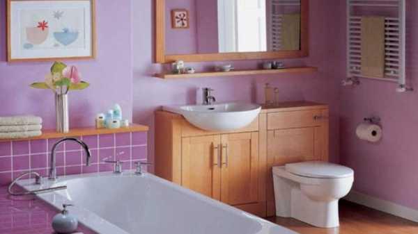 Крашенная ванная комната фото – Покраска стен в ванной ...