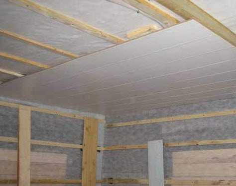 Пластиковые панели на потолок установка своими руками ...