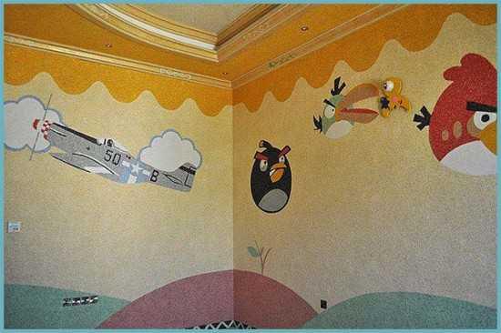 Рисунок на стену из жидких обоев – Рисунки жидкими обоями ...