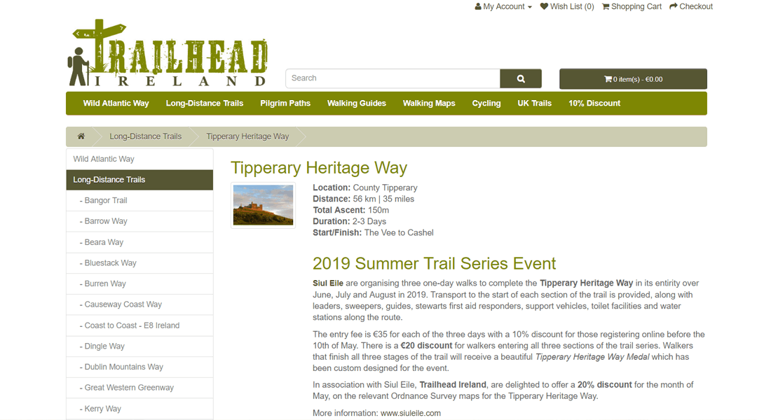 20% Off Tipperary Heritage Way Maps in May