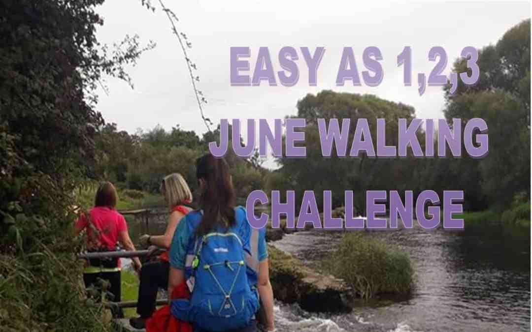 Easy as 1,2,3 June Walking Challenge
