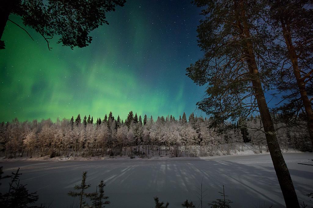 hotel vartiosaari rovaniemi vista aurora boreal