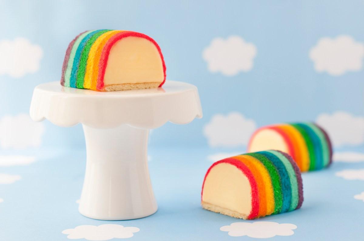 Durian Ice Cream Rainbow Cake