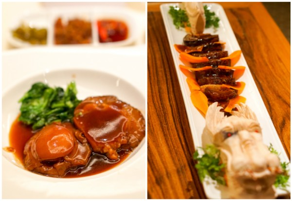 Chinese New Year 2017 at Golden Peony, Conrad Centennial Singapore - Braised Sea Cucumber Stuffed with Minced Shrimp & Pork, served with Abalone