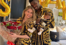 Photo of Paul Pogba and his wife Maria Zulay Salaues reveal the face of their son (Photos)