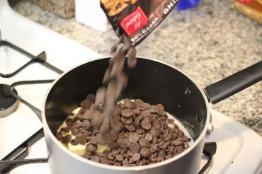 Melting chocolate and butter