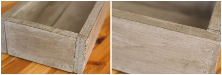 Rustic Wooden Trough Centerpiece