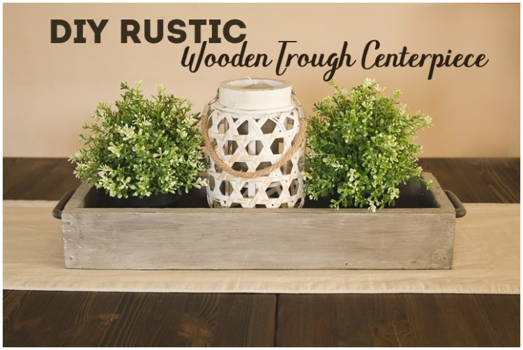 Rustic Wooden Trough Centerpiece