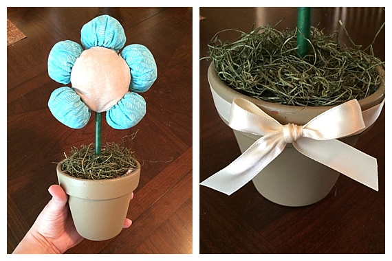 fabric puff flower